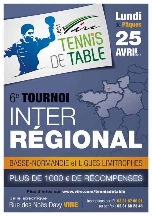 6 me tournoi de l usm vire tennis de table - Ligue basse normandie tennis de table ...